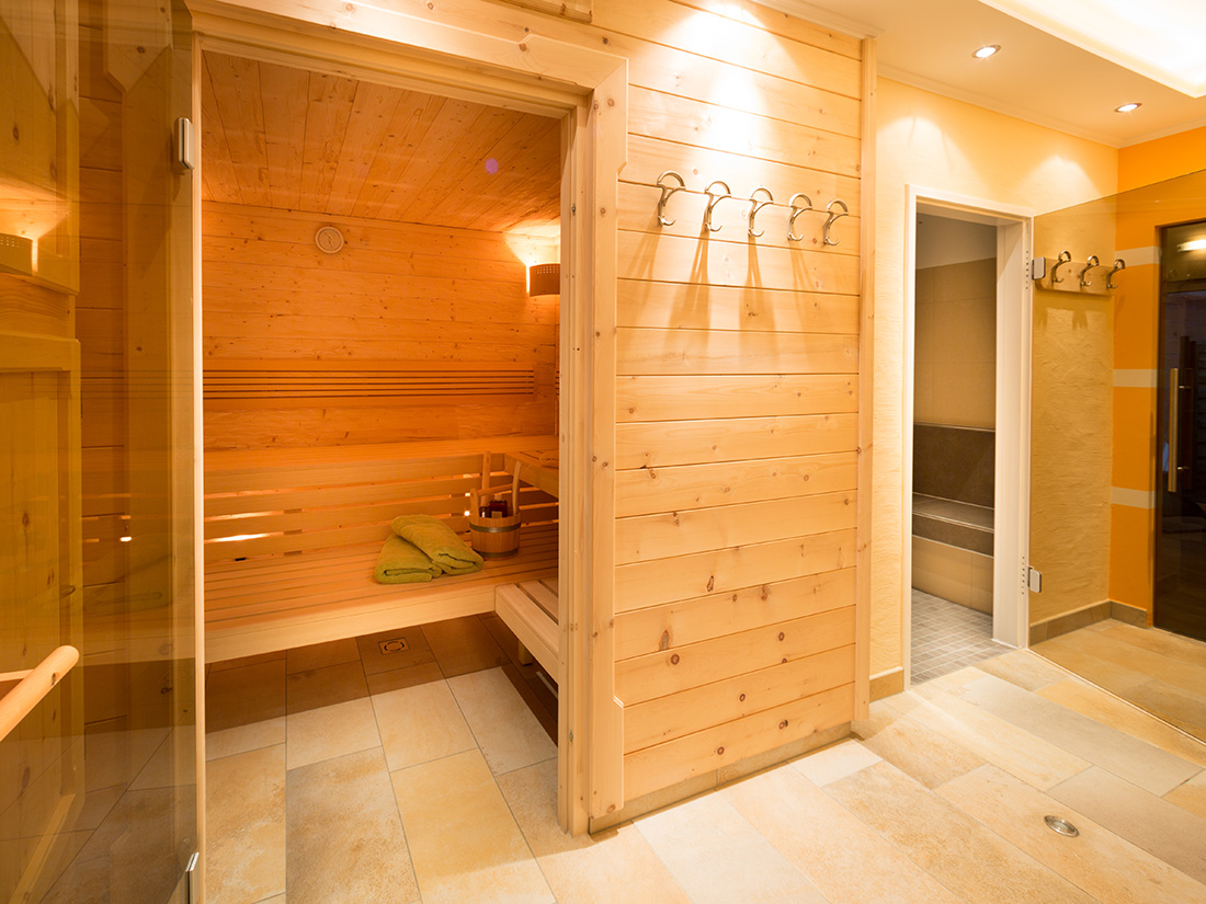 view in the sauna and steam bath